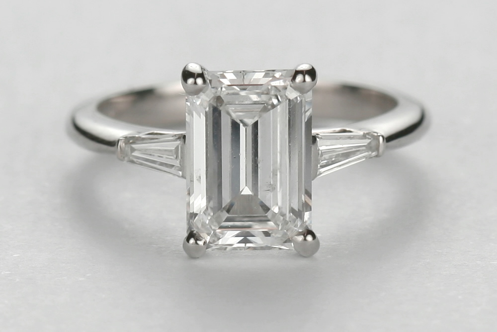 Emerald Cut Engagement Ring Meaning: small emerald cut engagement ring ideas