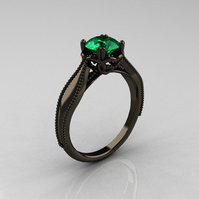Emerald Engagement Rings Vintage: small-emerald-engagement-ring-style