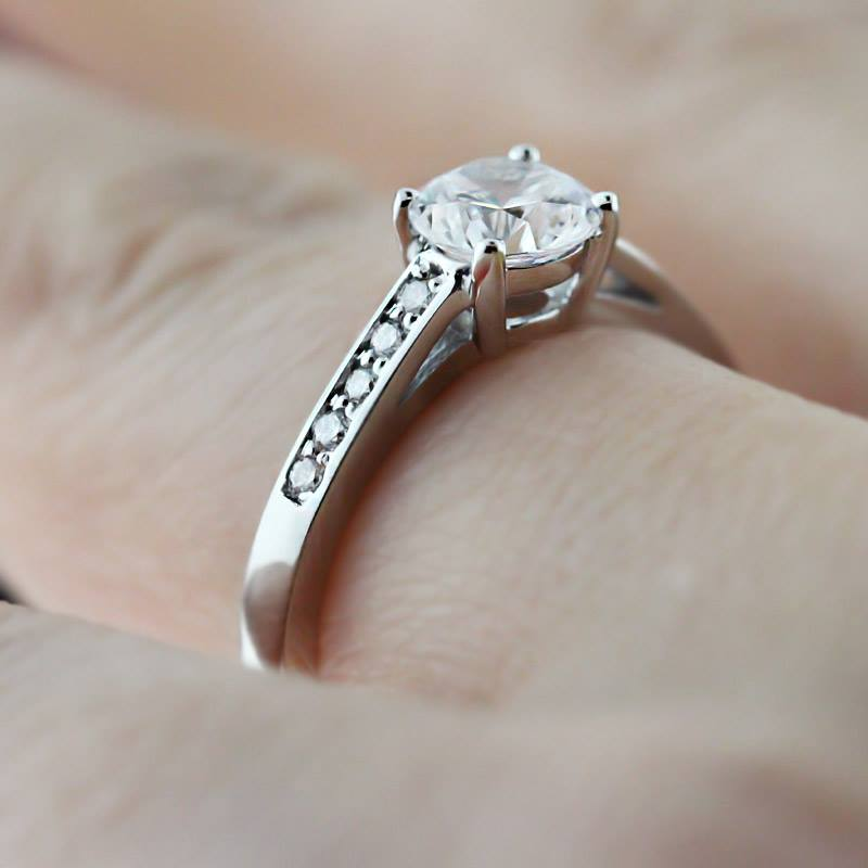 Lab Created Diamond Engagement Rings Sale: small lab created diamond engagement rings eyes
