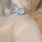 small moonstone engagement rings halo