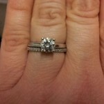 small thin band engagement ring design