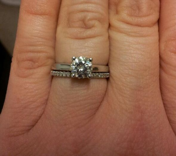 Thin Band Engagement Rings Uk: small thin band engagement ring design