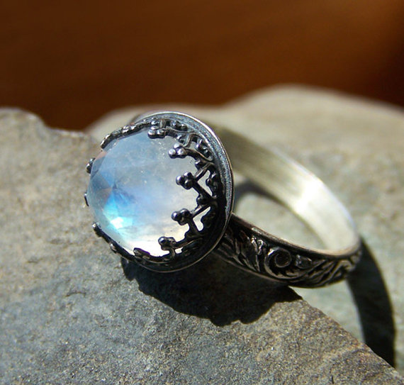 Moonstone Engagement Rings Etsy: special moonstone engagement rings stone