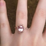 special peach sapphire engagement rings ideas