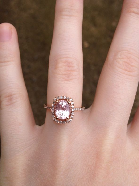 Peach Sapphire Engagement Rings Uk: special peach sapphire engagement rings ideas