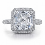 square asscher cut engagement ring design