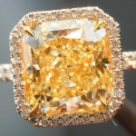 square canary diamond engagement rings cut