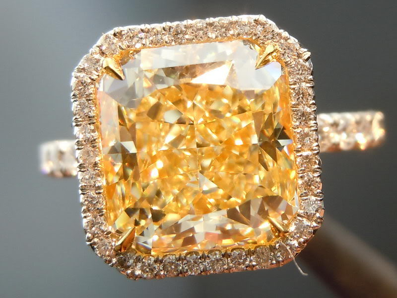 Canary Diamond Engagement Rings Uk: square canary diamond engagement rings cut
