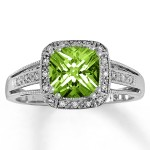square peridot engagement rings cut