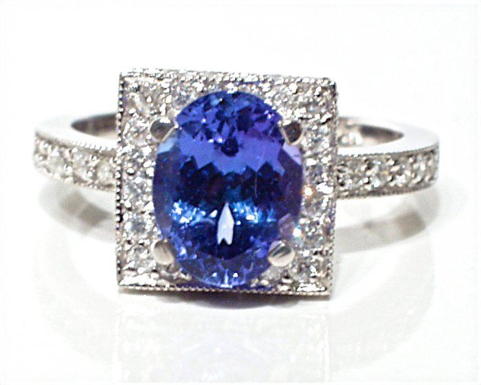 Tanzanite Engagement Rings Etsy: square tanzanite engagement rings design