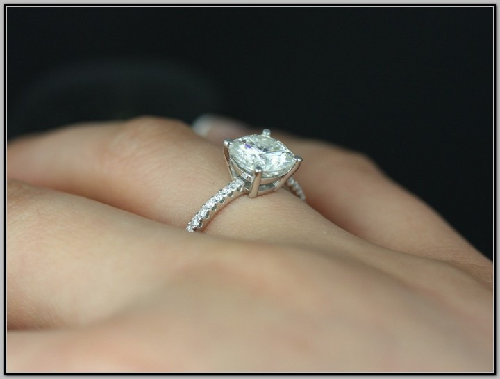 Thin Band Engagement Rings Uk: square thin band engagement ring cut