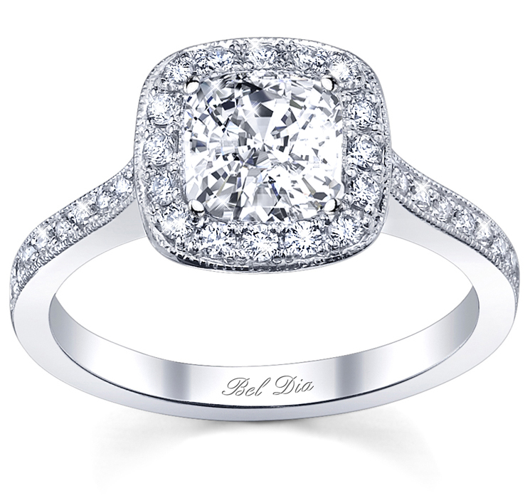Types of Engagement Rings Settings: square types of engagement rings cut
