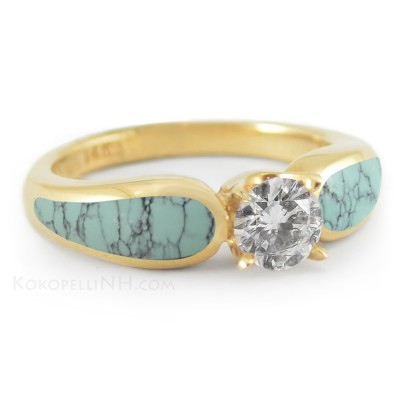 Stormy Turquoise Engagement Rings Sea