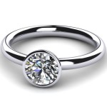 style bezel engagement ring diamond