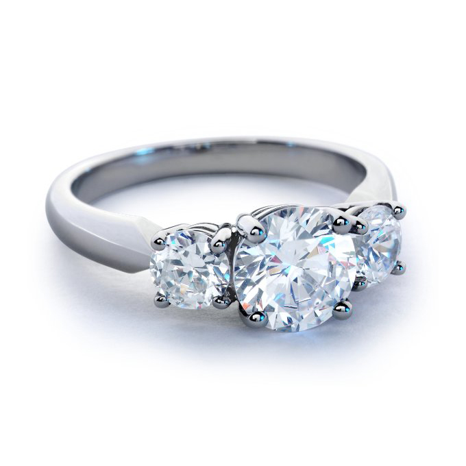Blue Nile Engagement Rings Reviews: three blue nile engagement rings stones