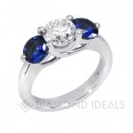 three diamond and sapphire engagement rings stones