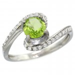 unique peridot engagement rings shaped
