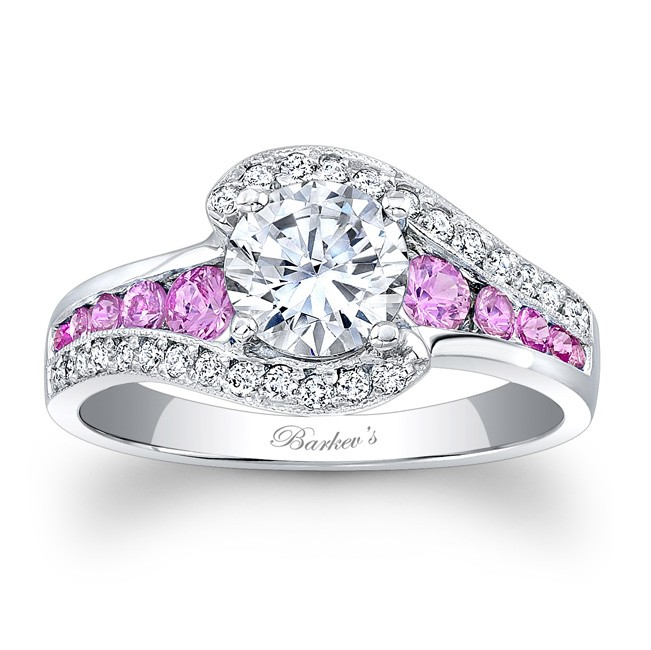 Pink Sapphire Engagement Ring UK: unique pink sapphire engagement ring design
