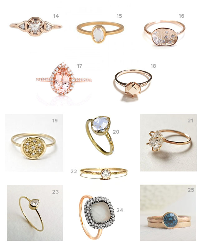 Types of Engagement Rings Settings: unique types of engagement rings style