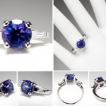 unqiue tanzanite engagement rings models