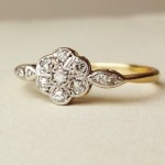 vintage etsy engagement rings gold