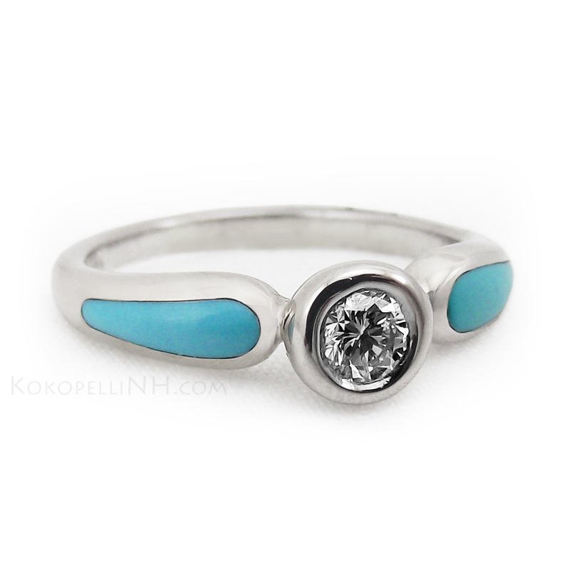 Turquoise Engagement Rings UK: western turquoise engagement rings design