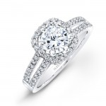 white halo diamond engagement ring design