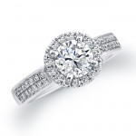 white halo diamond engagement ring style