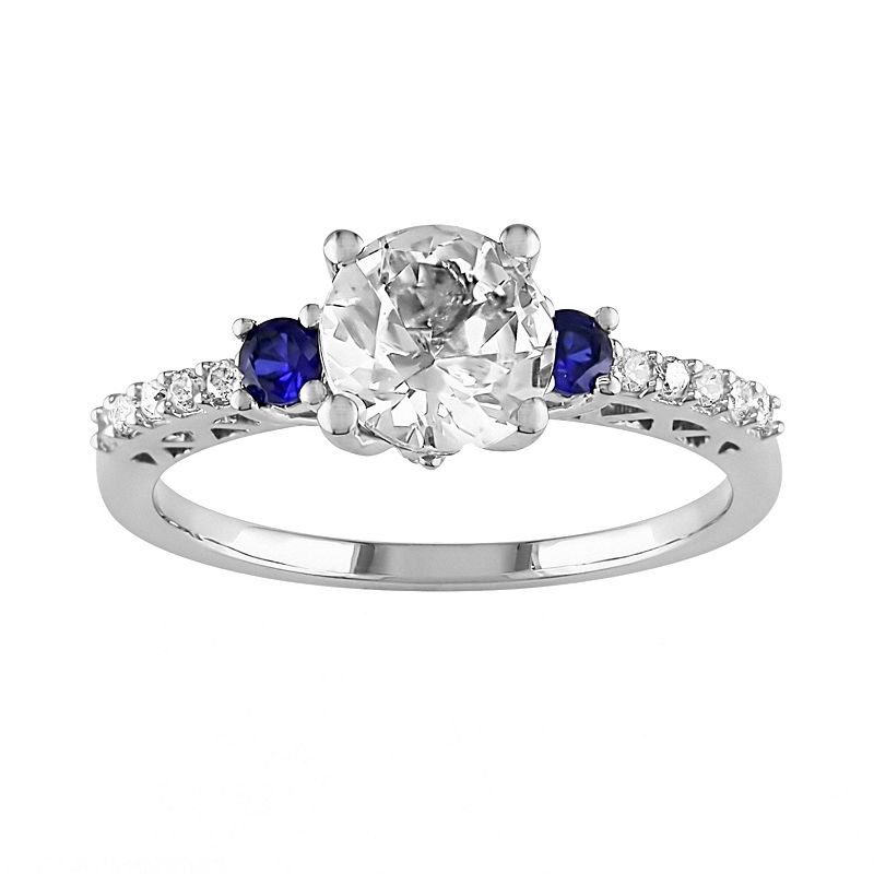 Lab Created Diamond Engagement Rings Sale: white-lab -created-diamond-engagement-rings-sapphire