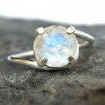 white moonstone engagement rings stone