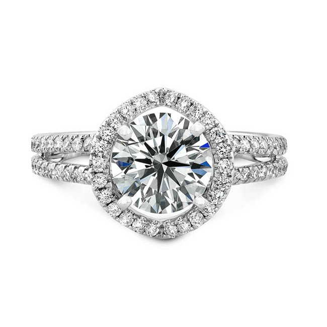 Pave Engagement Rings Meaning: white pave engagement rings gold