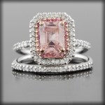 women pink sapphire engagement ring for