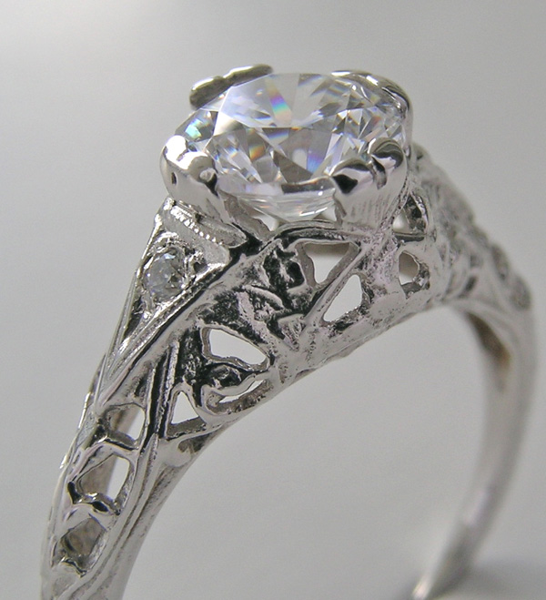 product gia old antique filligree european platinum engagement sold deco rings home cut art ring diamond