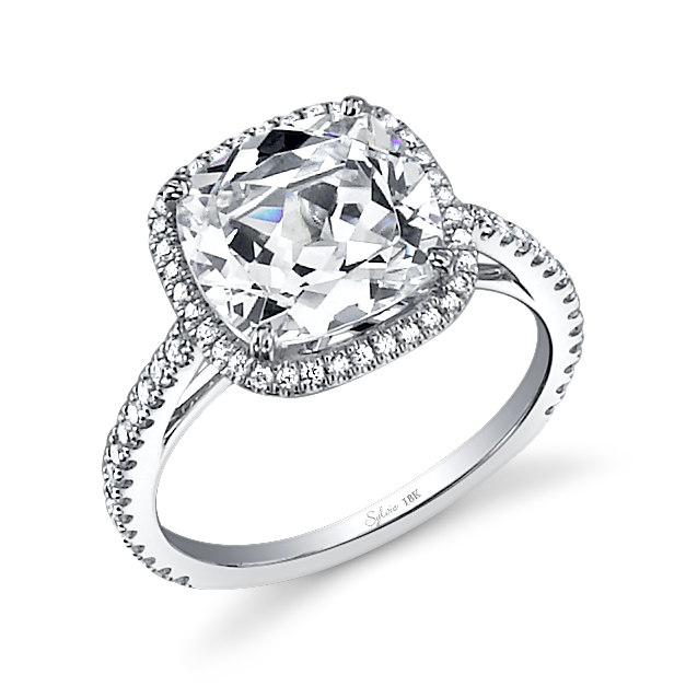 Amazing Cushion Cut Diamond Engagement Rings UK: cushion-pearl-cut-diamond-engagement-ring-with-simple-designs-diamond-for-engagement-and-wedding-ring