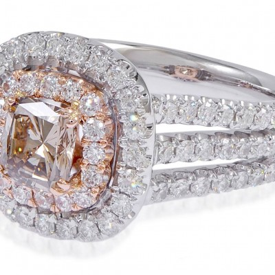 Cute Cut Diamond Engagement Rings Gold Square Top And Many Crystal For Make Glamour Rings View