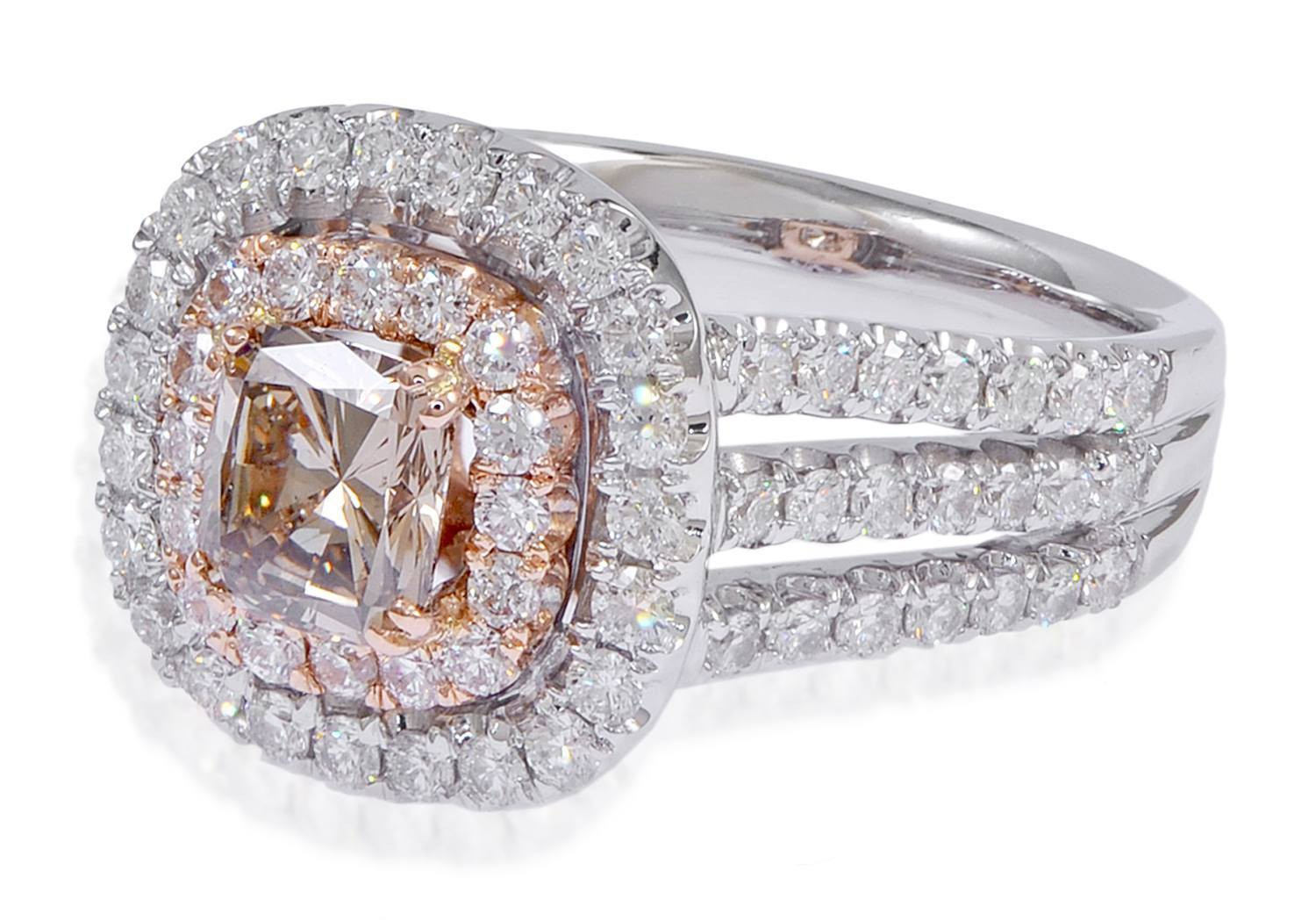 Amazing Cushion Cut Diamond Engagement Rings UK: cute-cut-diamond-engagement-rings-gold-square-top-and-many-crystal-for-make-glamour-rings-view