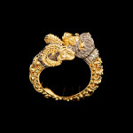 Capricorn and Lion engagement ring